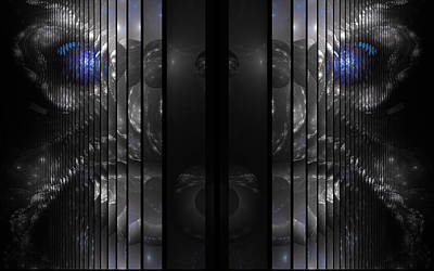 Multiple Personalities Digital Art - Split Personalities by GJ Blackman