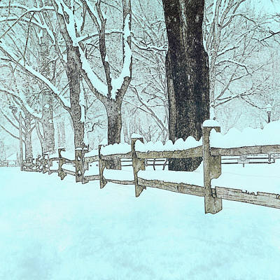 Split Rail Blues Print by John Stephens