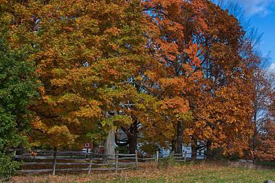 Autumn Photograph - Split Rail Fall Foliage by Jeff Folger