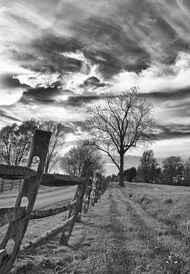 Photograph - Split Rail Fence by Guy Whiteley