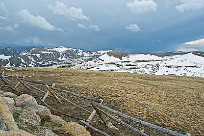 Split Rail Fence On East Side Of Trail Ridge Road In Rocky Mountain National Park-colorado Original by Ruth Hager