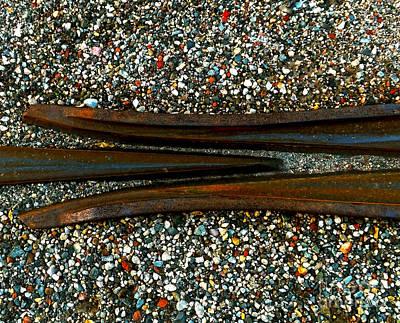 Gunmetal Photograph - Split Rail by James Aiken