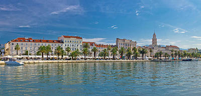 Photograph - Split Riva View With Diocletian Palace by Brch Photography