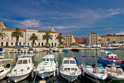 Photograph - Split Riva Waterfront Colorful View by Brch Photography