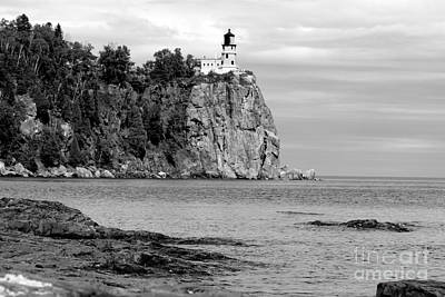 Photograph - Split Rock Black And White by A K Dayton