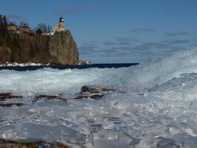 Mountain Landscape - Split Rock Ice Mountain by James Peterson
