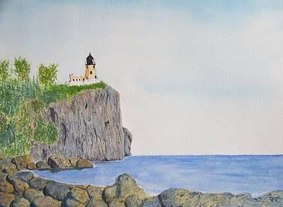 Split Rock Lighthouse Painting - Split Rock Lighthouse by Doug Basch