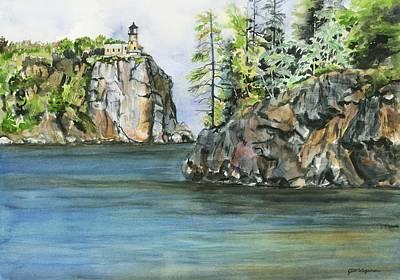 Split Rock Lighthouse Painting - Split Rock Lighthouse by Jill Wageman