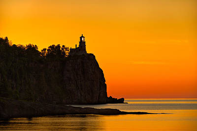 Split Rock Lighthouse Art Print by Steve Gadomski