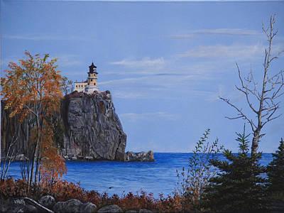 Painting - Split Rock Lighthouse by Vicky Path