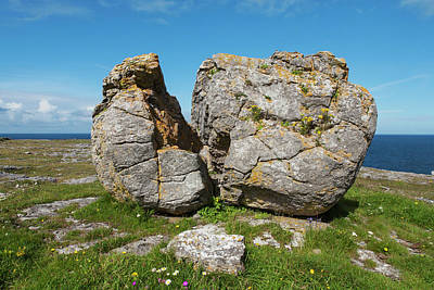 Fanore Photograph - Split Rock Near Fanore  Burren, County by Carl Bruemmer