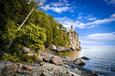 Photograph - Split Rock Shoreline by Mark David Zahn