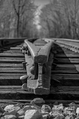 Split Track Art Print by Rick McKee
