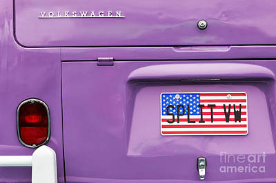 Star Spangled Banner Wall Art - Photograph - Split Vw Campervan by Tim Gainey