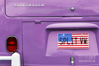 Star Spangled Banner Photograph - Split Vw Campervan by Tim Gainey