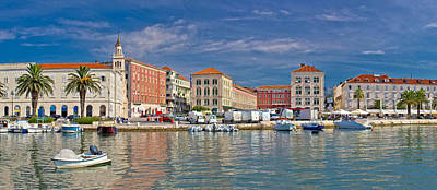 Photograph - Split Waterfront Peristil Panoramic View by Brch Photography