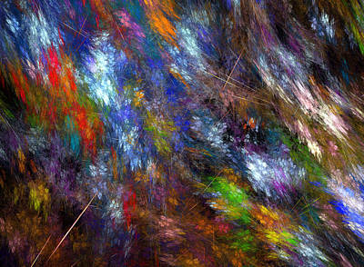Fuzzy Digital Art - Splitered Minds Eye by Brainwave Pictures