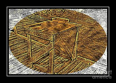 Brass Etching Photograph - Splitting Table Brass Etching by Barbara Griffin