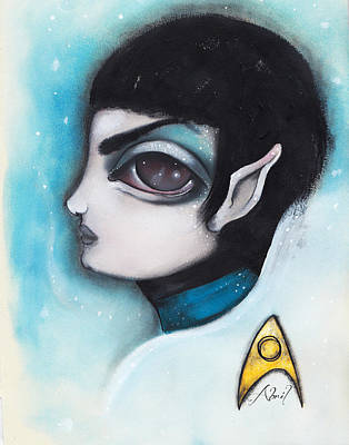 Star Trek Painting - Spock by Abril Andrade Griffith