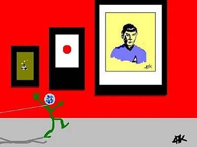Digital Art - Spock by Ann Kipp