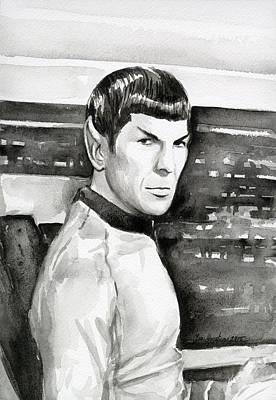 Spock Print by Olga Shvartsur