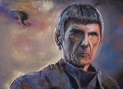 Mixed Media - Spock by Peter Suhocke