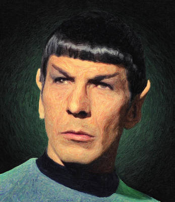 Character Portraits Painting - Spock by Taylan Apukovska