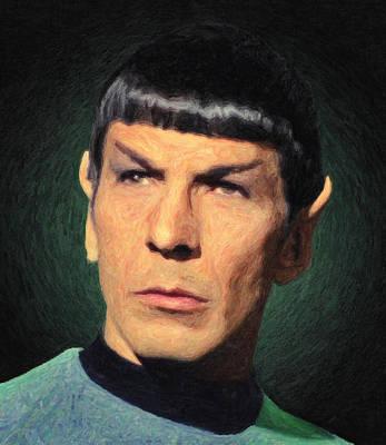 Vulcan Painting - Spock by Taylan Apukovska
