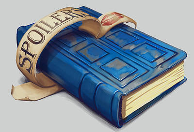 Tardis Painting - Spoilers- River Song's Tardis Journal by Dorian Dutrieux