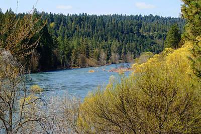 Photograph - Spokane River Spring 2014 Again by Ben Upham III