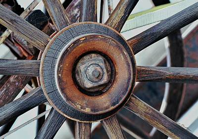 Antique Wagons Photograph - Spokes And Hub by Kae Cheatham