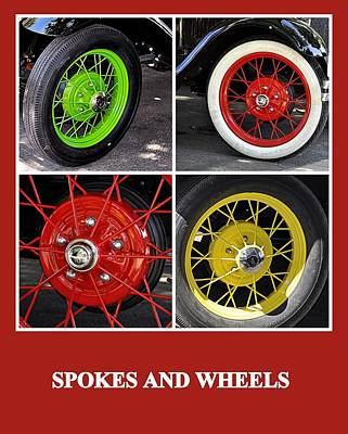 Photograph - Spokes And Wheels by AJ  Schibig