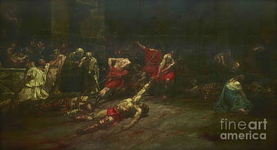 Body Paint Painting - Spoliarium  by Juan Luna