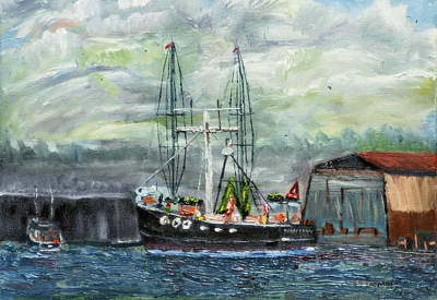 Painting - Sponge Boat At Tarpon Springs by Michael Daniels
