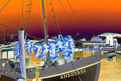 Photograph - Sponge Boat Sabattier by Bill Barber