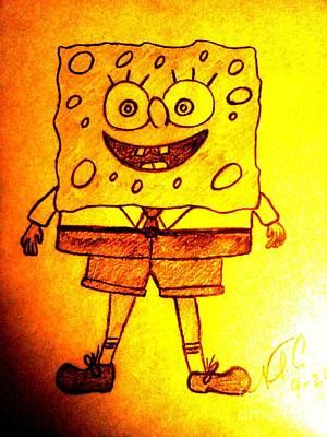Drawing - Spongebob Squarepants by Neil Stuart Coffey