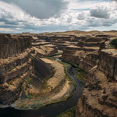 Wallpaper Photograph - Palouse River by Andrew Burgos