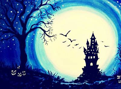 Painting - Spook House by Nickie Bradley