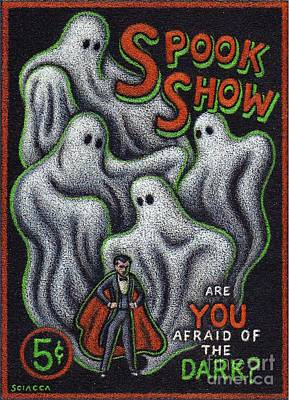 Sideshow Drawing - Spook Show by Thomas Sciacca