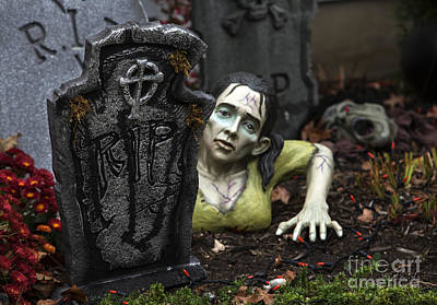 Spookie Lady Art Print by Iris Richardson