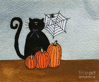 Spooky Black Cat Original by Norma Appleton