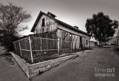 Photograph - Spooky Chino Barn - 01 by Gregory Dyer