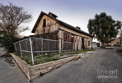 Photograph - Spooky Chino Barn by Gregory Dyer