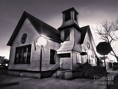 Painting - Spooky Chino Church - 01 by Gregory Dyer