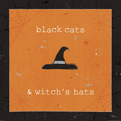 Witch Cat Painting - Spooky Cuties II by Pela Studio