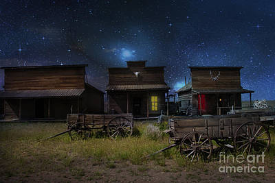 Log Cabin Photograph - Spooky Ghost Town by Juli Scalzi
