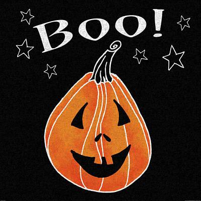 Jack O Lantern Painting - Spooky Jack O Lantern II by Elyse Deneige
