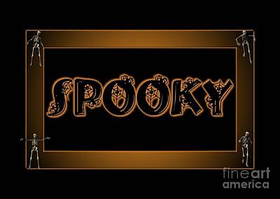 Digital Art - Spooky by JH Designs