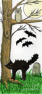Spooky Night Original by Norma Appleton