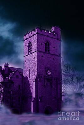 Photograph - Spooky Purple Church by Terri Waters